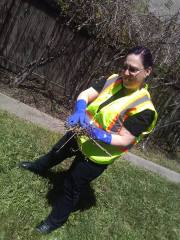 Steph on clean up (Earth Day 2018)