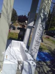 Painting the Cable Car Memorial Statue ( Earth Day 2018)