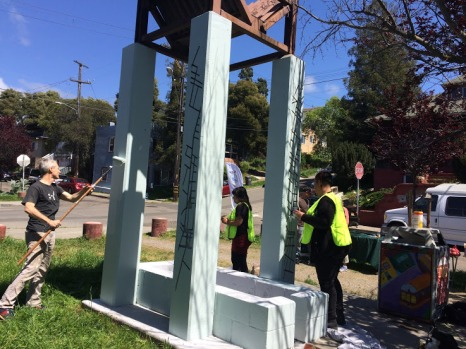 Painting the Cable Car Monument (2019 Earth Day)