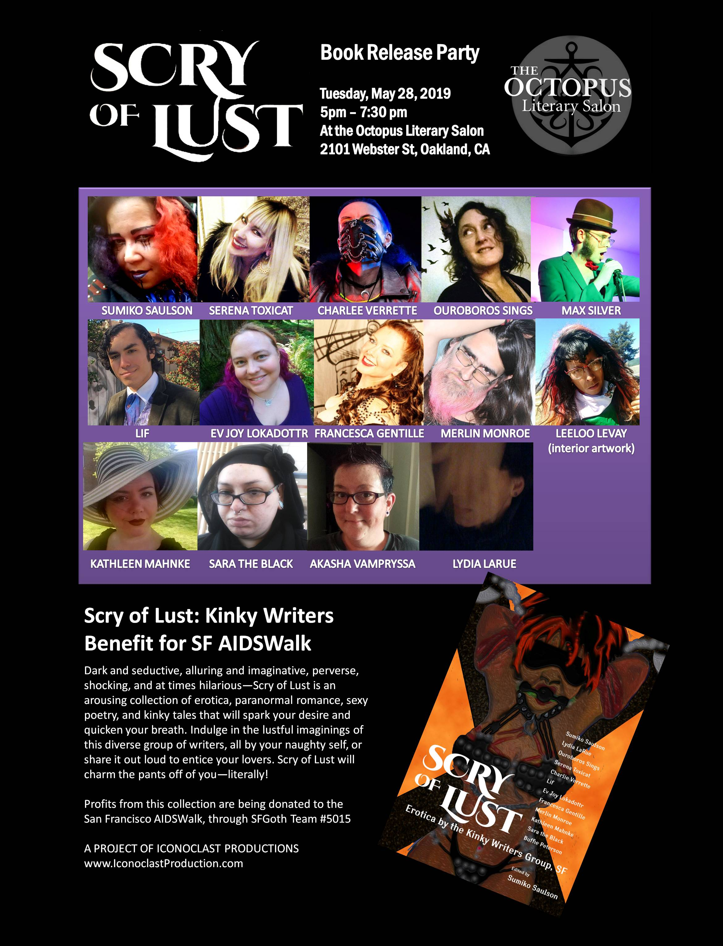 Scry of Lust event poster tabloid